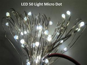 Micro Christmas Lights.50 Light Micro Dot Fairy Lights